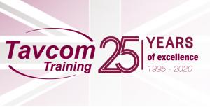 Tavcom Training anniversary logo